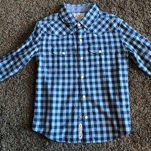 Boys size 6, lucky brand, button down shirt